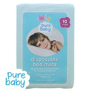Pure Baby Disposable Baby Mats Toilet Potty Training Pads 10 mats 90 x 60 cm