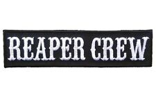 Reaper Crew Anarchy Outlaw Embroidered Hook Fastener Patch (RE1) BY MILTACUSA