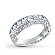Sterling Silver .925 Women's CZ Anniversary Eternity Wedding Band Ring Size 4-10