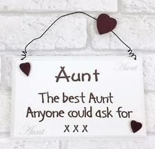 Best Aunt Wall Plaque Great Gift Ideas for Aunt F1315E GD