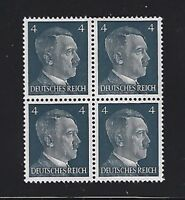 MNH  Adolph Hitler stamp block / 1941 PF04 / Original Third Reich era Germany