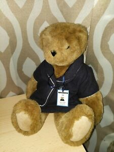 Vermont Teddy Bear Company Friend For Life Jointed Plush United Airlines Outfit