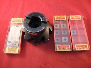 SANDVIK COROMANT R290.90-080Q27-12H - 80mm DIA SQ SHOULDER MILLING CUTTER + TIPS