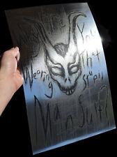 Donnie Darko Frank The Rabbit Mansuit rare METALLIC FOIL PRINT 11x17