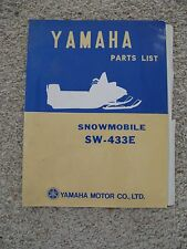 Rare Yamaha Snowmobile Parts List Manual for SW-443E