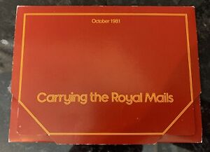 GB Royal Mail Postcards 1981 Carrying The Royal Mails Folder Collection
