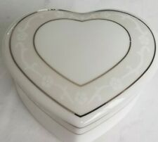 Wedgwood Icing Heart Shaped Trinket Dresser Covered Dish, Valentine's Day Gift!