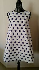 NEW Funky spot Cotton shift dress, size 12