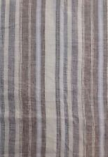 100% Linen Woven Fabric Yarn Dyed Multi-Color Stripe By the Yard