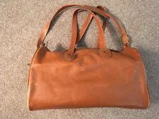 "C & C 16"" Tan Leather Duffle Bag W/ Shoulder Strap"