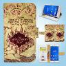 Sony Xperia Z2 Z3 Print Flip Wallet Case Cover Harry Potter Map W139