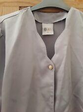 Ladies  retro silver blouse size 14