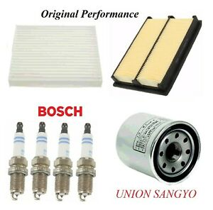 Tune Up Kit Air Cabin Oil Filters Spark Plugs For NISSAN JUKE L4 1.6L 2011-2017