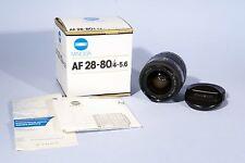 Minolta 28-80mm f/4-5.6 (22) Lente Af Macro Zoom * en Caja * Minolta Af/Sony Alpha