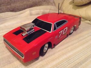 1/24 NKOK 1970 Dodge Charger plastic body was remote control but sold as display