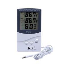 LCD pantalla interior/exterior termómetro higrómetro digital temperatura humedad