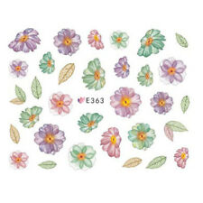 Nail Art Water Decals Stickers Transfers Water Effect Flowers Daisies (E363)