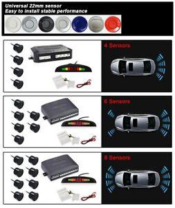 Car Alarm Auto Parktronic LED Parking Sensors Kit Reverse Radar Monitor System