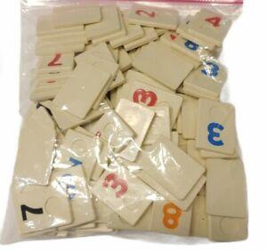 Original Rummikub by Pressman 1995 Replacement Parts: 104 Tiles,  Full Set