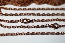 Antique Copper Flat Cable 3 Mm Chains 18-30 Inch Necklace Bulk Wholesale Lots