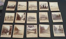 Antique 1896 vintage London Brighton England photos lot of 15 Parliament Tower