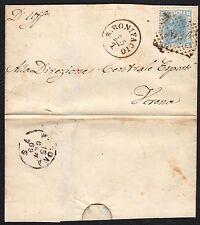 STORIA POSTALE Regno 1869 Piego 20c da San Bonifacio per Verona (FB5)