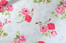 """1.3m/52"""" ROUND roses nancy duck egg oilcloth wipe clean cotton pvc TABLECLOTH CO"""