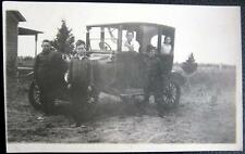 *1900's Boys Inside And Outside Of Oldtimer Auto ~ Real Photo Pc Rppc