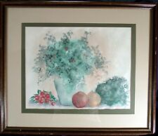 Original Watercolor Signed P over H dated 82