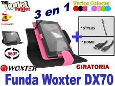 "PACK FUNDA PARA TABLET WOXTER DX70 7"" + HDMI + STLYUS dx 70 función stand"