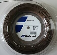 New BabolaT RPM Power 125/17 200M Reel Tennis String, Brown