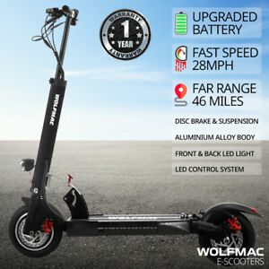 WOLFMAC™ H6 Electric E-Scooter, 2021 Model Scooter, FAST 28mph. Top Spec 800w!