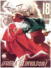 WAR EUZKADI OFFENSIVE SPANISH CIVIL ANTI FASCIST REPUBLICAN RETRO POSTER 2650PY