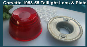 Corvette 1953 1954 1955 tail light lens taillight with mounting bracket READ it