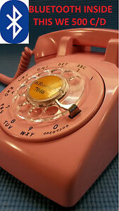 NOW ! Pair this PINK WESTERN ELECTRIC BLUETOOTH TELEPHONE to any iPhone/Android