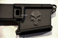 3D Decal, Sticker, Punisher Skull for AR15 Magwell, Stock or Gun Rifle airsoft