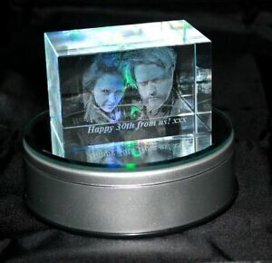 Personalised Lasered 3D Photo Crystal