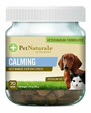 Pet Naturals of Vermont Calming Chew for Dogs and Cats 70 Chews Supplements NEW