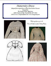 Victorian Clothing Civil War Maternity Dress New Pattern Size 8 to 20