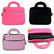 """Slim Neoprene Dual Pocket Sleeve Handle Carrying Cover Case for 9"""" 10"""" Tablet"""