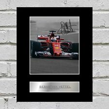Sebastian Vettel Signed Mounted Photo Display Ferrari