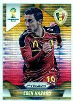 EDEN HAZARD 2014 Panini Prizm FIFA World Cup Red Yellow Pulsar Belgium