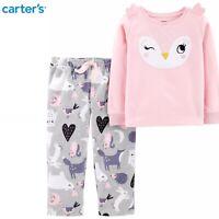 Carters Toddler Girl 2-Piece Owl Fleece PJs 2pc Pajamas Set Sleepwear 3T 4T 5T
