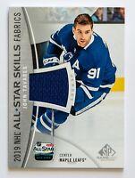 JOHN TAVARES GAME JERSEY CARD SP GAME USED 2019 NHL ALL-STAR SKILLS FABRICS WOW
