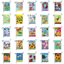 "12x18"" Welcome Garden Yard Flag Banner Flower Butterfly Double-sided Decorative"