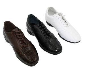 Men's Genuine Leather Crocodile Coco Print Shoes
