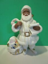 Lenox Santa'S List figurine African American Ebony Santa - Mint Condition No Box