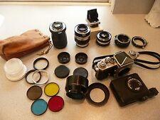 Lot~Vintage SLR NIKON F CAMERA! Filters/Lenses/Eye Level Finder/Accessories+!