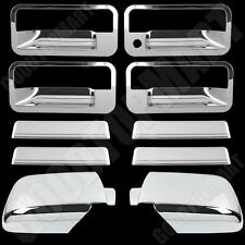 Chrome Mirror + 4 Door handle covers w/o P key for CHEVY Tahoe 1995 96 97 1998