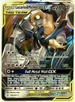 ULTRA RARE Lucario & Melmetal GX Tag Team 120/214 Pokemon Unbroken Bonds - LP